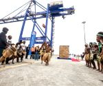 NAMIBIA WALVIS BAY CHINESE BUILT CONTAINER TERMINAL INAUGURATION