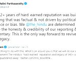 War of words erupts between The Hindu group members over paper's credibility