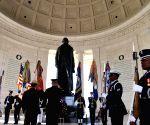 U.S. WASHINGTON D.C. THOMAS JEFFERSON 274TH BIRTHDAY COMMEMORATION