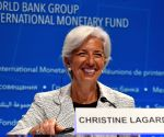 U.S. WASHINGTON D.C. IMF CHRISTINE LAGARDE PRESS CONFERENCE