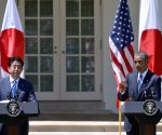 US WASHINGTON D.C. JAPAN ABE NEWS CONFERENCE