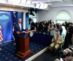 Washiton D.C.: U.S. President Barack Obama speaks at the press meet