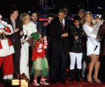 The National Christmas Tree is lighted during a ceremony on the Ellipse south of the White House