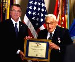 U.S. WASHINGTON D.C. PENTAGON KISSINGER AWARD