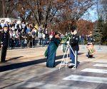 Washington DC: Nirmala Sitharaman pays tributes at Arlington National Cemetery