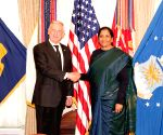 Washington DC: Nirmala Sitharaman meets US Secretary of Defence