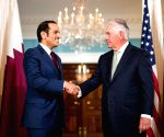 U.S. WASHINGTON D.C. SECRETARY OF STATE QATAR FM MEETING