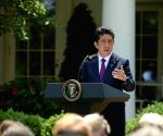 U.S. WASHINGTON D.C. PRESIDENT JAPAN PM PRESS BRIEFING