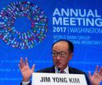 U.S. WASHINGTON D.C. WORLD BANK IMF ANNUAL MEETINGS PRESS CONFERENCE LAGARDE