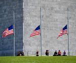 U.S. WASHINGTON D.C. LAS VEGAS SHOOTING FLAG HALF MAST