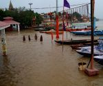 Water level rises in the Ganga river