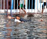 Waterlogged streets of Kolkata