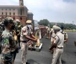 Free Photo: We Serve DilSe Delhi IPS distributes Vit-C, masks to colleagues on road.
