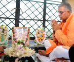 Kolkata: Dilip Ghosh offers prayers to Lord Ram to mark Ram Temple 'Bhumi Pujan' in Ayodhya