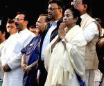 Mamata Banerjee during TMC meeting