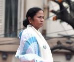 Mamata takes up paint brush to protest against CAA-NRC-NPR