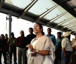 Mamata Banerjee at Kolkata Airport