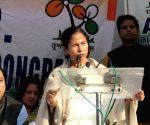 Mamata Banerjee at Jantar Mantar