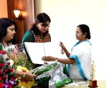 "WB CM launches Braille version of her book ""Jiban Sangram"