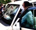 West Bengal Chief minister Mamata Banerjee comes out from CBI office at Nizam Palace following the arrest of two TMC ministers and two MLA's in Narada scam case,in Kolkata.