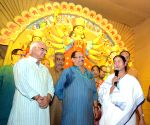 Mamata Banerjee inaugurates Ekdalia Evergreen Club Durga Puja