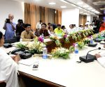 Mamata Banerjee during first cabinet meeting