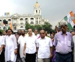 Congress protest against WB Govt