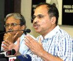 Adhir Ranjan Chowdhury talks to press