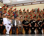 Keshari Nath Tripathi presents Governor's Medal to outstanding NCC Cadets