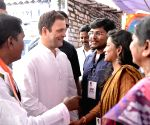 West Godavari (Andhra Pradesh): Rahul Gandhi meets the residents of Pedapadu Village