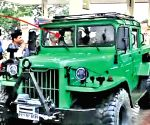 Dhoni adds Jonga to collection, car used by Indian Army