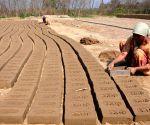 Women busy making bricks
