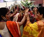 Women during 'Sindur Khela' on Vijayadashami