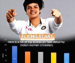 Women's one-off Test: Shafali's brisk 50 helps India reduce deficit (Tea)
