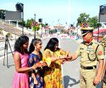 Attari (Punjab): Raksha Bandhan celebrations at Attari-Wagah border
