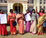 Womens MLA raise slogans to press for their various demands to the mark of International Women's Day