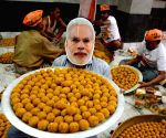 Laddus' being prepared to celebrate PM Modi's swearing-in ceremony