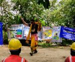 Free Photo: Workers engaged in the construction works of Delhi Metro will get information about the benefits of vaccine through an entertaining campaign