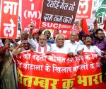 Left parties' demonstration during 'Bharat Bandh