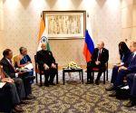 Xiamen (China): BRICS Summit 2017- Modi meets Putin