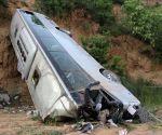 CHINA SHAANXI XIANYANG BUS OVERTURNED DEATH