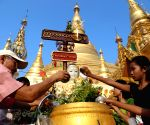 Myanmar's traditional new year at the Shwedagon Pagoda