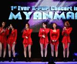 K-Pop stars perform in Yangon