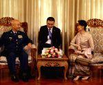 MYANMAR-YANGON-XU QILIANG-AUNG SAN SUU KYI-MEETING