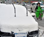 CHINA SHANDONG SNOWFALL