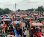 Tractor rally: Rajasthan traffic volunteers with green jackets, well-defined route