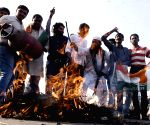 Youth Congress demonstration against hike in LPG prices