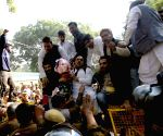 : (041215) New Delhi: Youth Congress demonstration