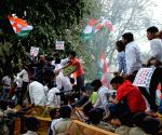 Youth Congress demonstration against oil price hike