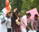 Youth Congress demonstration against Amit Shah's son